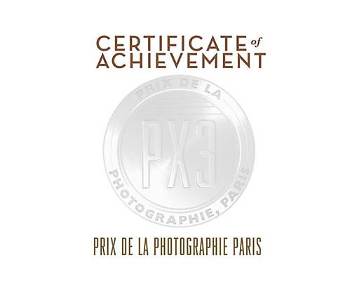 HONORABLE MENTION WINNER OF PX3, Prix de la Photographie Paris