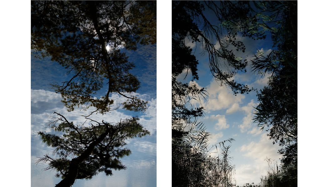 Li. C. Franke ECHO, 2017, Pigmentdruck auf Natur Baumwoll-Papier, 40x60 auf 50x70 cm, Ed. 10 + 2 A.P.   Re. C. Franke PFORTE, 2017, Pigmentdruck auf Natur Baumwoll-Papier, 40x60 auf 50x70 cm, Ed. 10 + 2 A.P.