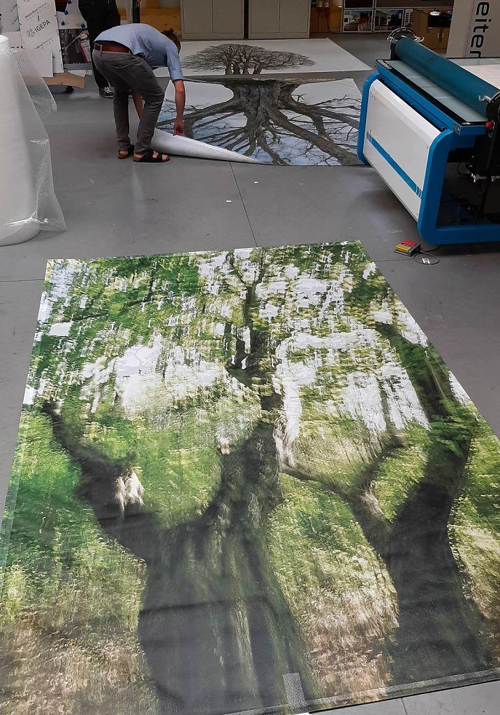 The first three test prints